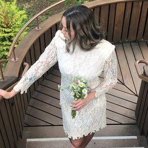 Vintage beaded wedding dress